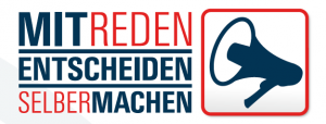Logo Mitreden Entscheiden selber machen