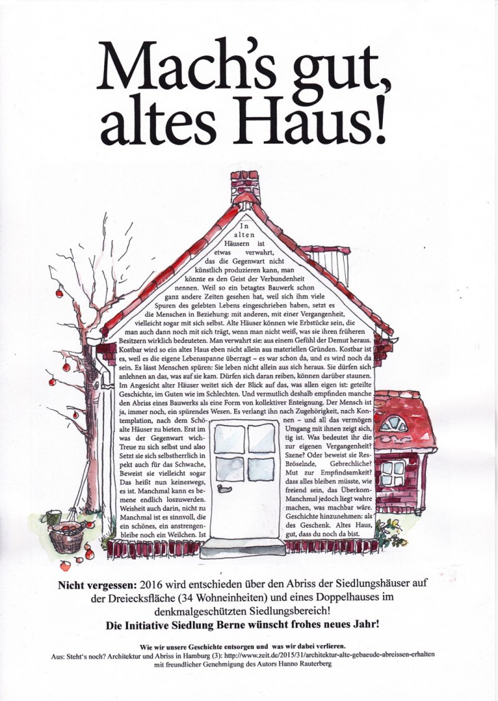 Machs gut altes Haus!